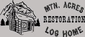 Mtn Acres Log Home Restoration Logo